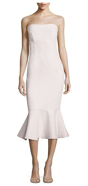 CINQ A SEPT luna strapless dress - Fashionable dress with ruffled hem in a vibrant hue....
