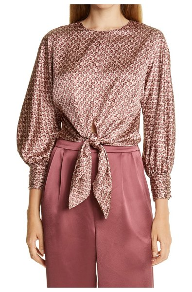 Cinq A Sept lydia silk blouse in pink