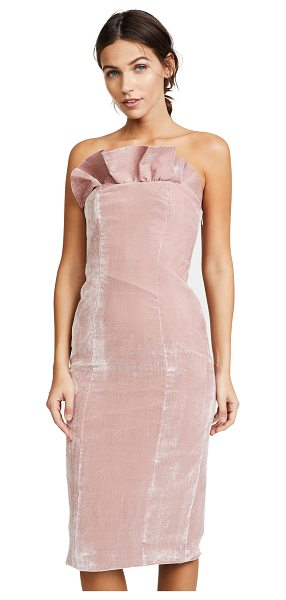 Cinq A Sept marceau dress in mauve - Tiered, structured ruffles accent the neckline of this...
