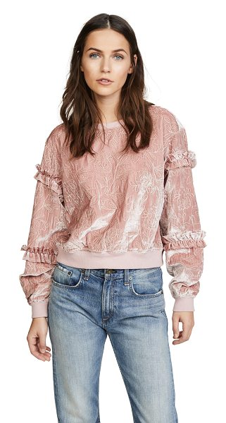 Cinq A Sept nara pullover in mauve - Fine metallic embroidery lends a lavish touch to this...