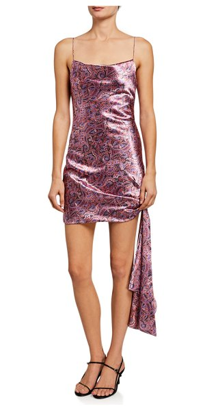 Cinq A Sept Ryder Paisley-Print Tie Dress in pink pattern