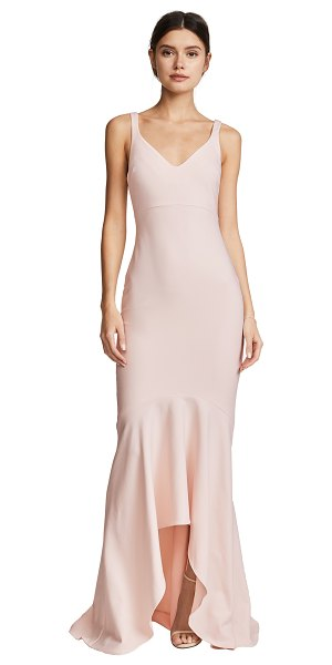 CINQ A SEPT sade gown in cinq pink - This elegant Cinq a Sept dress is styled with a curved...