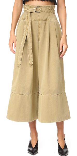 Cinq A Sept sandy pants in khaki - These Cinq a Sept culottes have crisp pleats and slight...