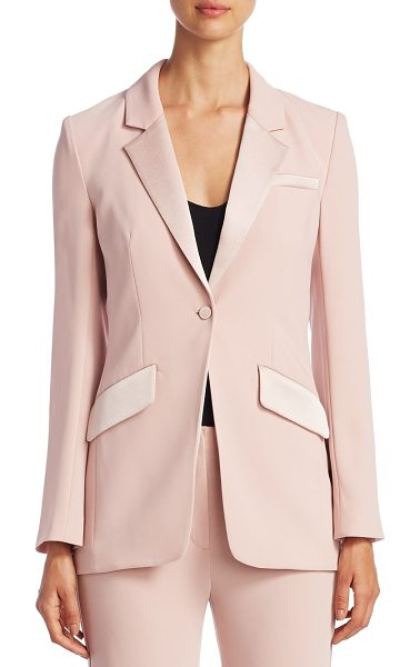 Cinq A Sept serra blazer in mauve - Alluring one-button blazer in minimalistic design. Notch...