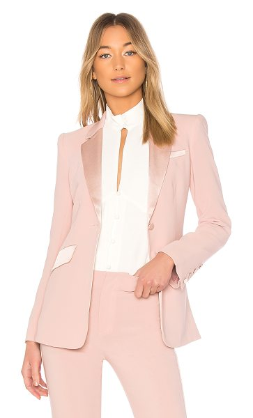 Cinq A Sept Serra Jacket in pink - Self: 69% triacetate 31% polyContrast: 75% triacetate...