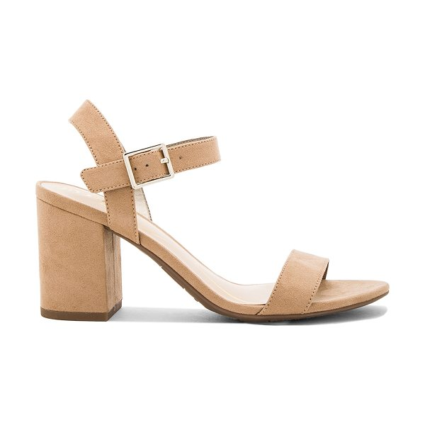 Circus by Sam Edelman Ashton Heel in taupe - Faux suede upper with rubber sole. Ankle strap with...