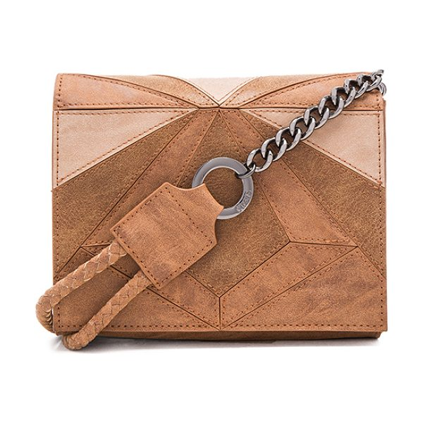 Circus by Sam Edelman Sonny Crossbody Bag in tan - Faux leather exterior with faux suede lining. Flap top...