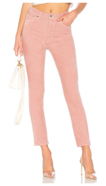 Citizens of Humanity olivia high rise corduroy in pink mist