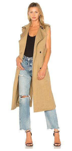 Citizens of Humanity Sleeveless Trench in brown - 100% cotton. Front button closure. Side flap pockets...