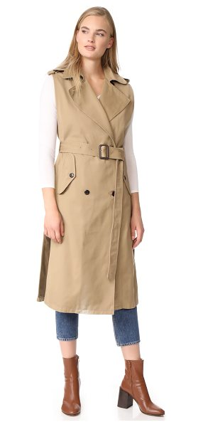 Citizens of Humanity sleeveless trench in beige - A Citizens of Humanity sleeveless trench coat with a...