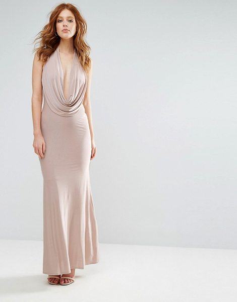 "CITY GODDESS Slinky Maxi Dress With Plunge Neck - """"Maxi dress by City Goddess, Smooth stretch fabric,..."