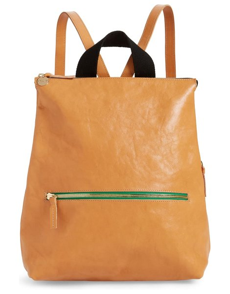 Clare V. remi leather backpack in brown