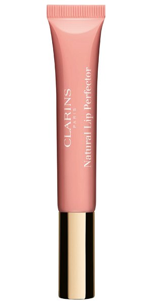 Clarins natural lip perfector lip gloss in apricot shimmer 02