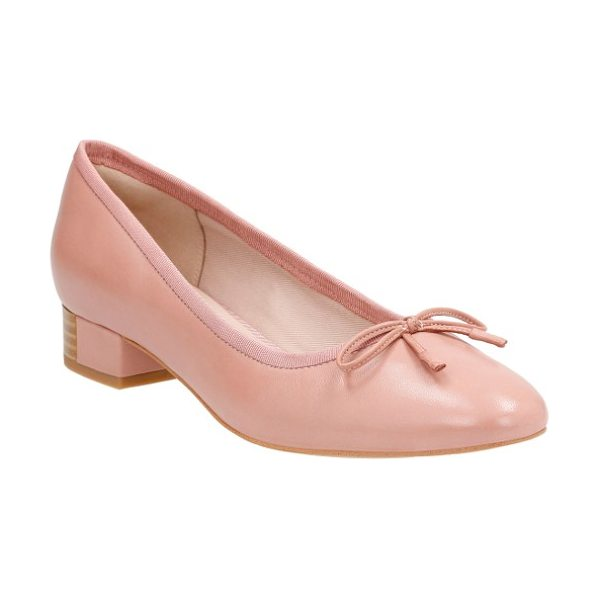 Clarks clarks eliberry isla ballet pump in dusty pink leather - A partially wrapped block heel adds just-right lift to a...