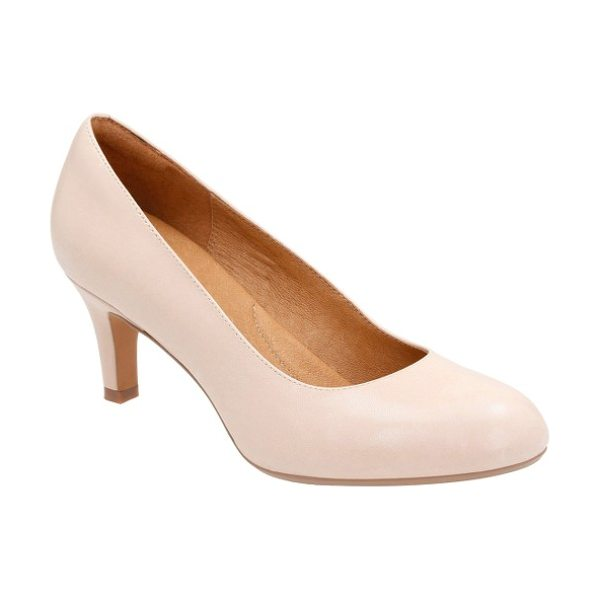 Clarks clarks 'heavenly heart' pump in nude leather - A shock-absorbent footbed brings comfort and stability...