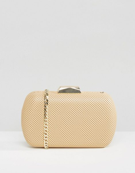 CLAUDIA CANOVA Box clutch bag - Cart by Claudia Canova, Perforated faux-leather fabric,...