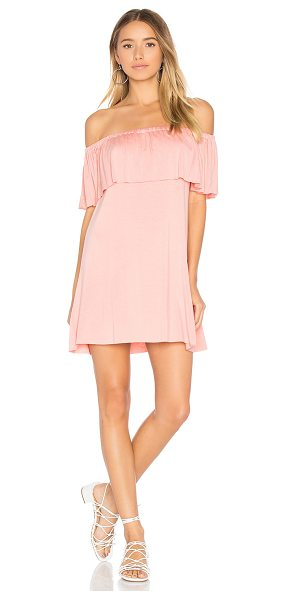 "Clayton Amalia Dress in pink - ""95% viscose 5% spandex. Hand wash cold. Unlined...."