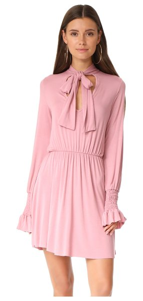 Clayton camden dress in burnt pink - This soft CLAYTON dress is accented with a sash at the V...