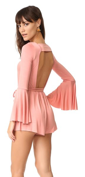 CLAYTON georgina romper - A lightweight CLAYTON romper with a bold back cutout....