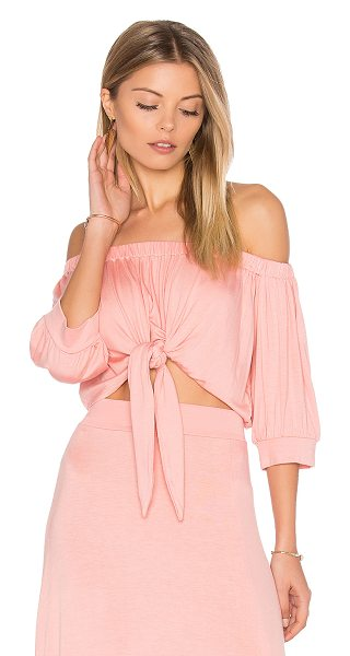 Clayton Mariah Top in pink - 95% viscose 5% spandex. Hand wash cold. Elasticized...