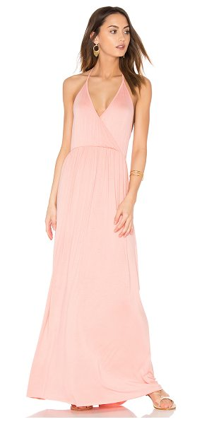 Clayton Penelope Dress in peach - 95% viscose 5% spandex. Hand wash cold. Unlined....