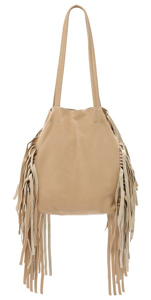 CLEOBELLA Hendrix small tote in natural - A slouchy Cleobella tote in pebbled leather, accented...