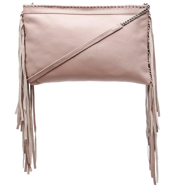 Cleobella Joplin chain crossbody in taupe - Sheep leather exterior with cotton fabric lining....