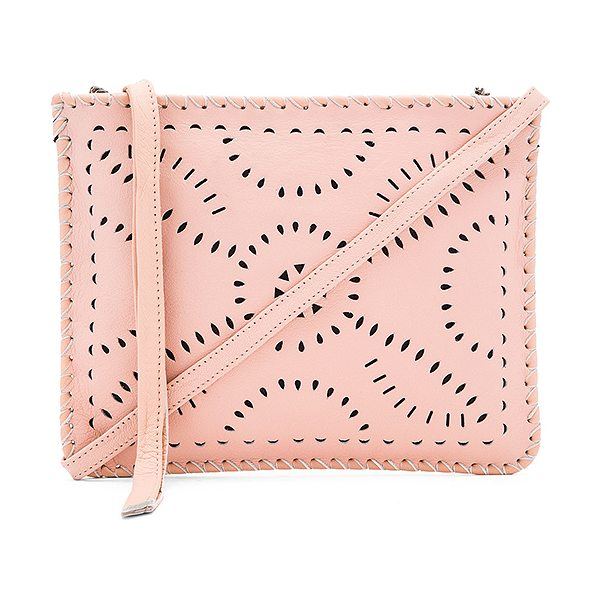 Cleobella Mexicana crossbody bag in blush - Leather exterior with cotton fabric lining. Zip top...