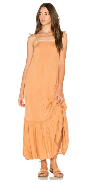 Cleobella Pipa Slip Dress in terracotta - Viscose blend. Hand wash cold. Unlined. Shoulder tie...