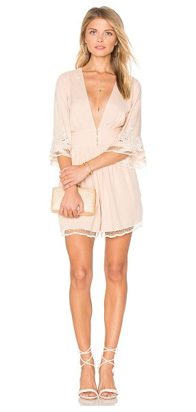 "Cleobella River Romper in blush - ""100% rayon. Front button and hidden zipper closure...."