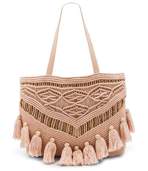 "Cleobella Swoon Tote Bag in blush - ""Woven cotton exterior with cotton fabric lining. Top..."