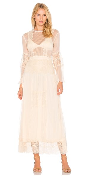 Cleobella Vienna Maxi Dress in cream - Viscose blend. Dry clean only. Partially lined. Sheer...