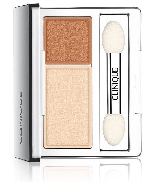 Clinique all about shadow eyeshadow duo in sand dunes - What it is: Long-wearing powder eye color in...