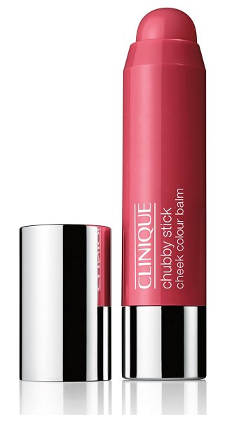 Clinique chubby stick moisturizing cheek colour balm in plumped up peony,robust rhubarb,roly poly rosy