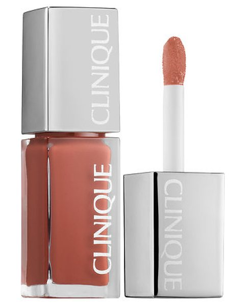 Clinique pop lacquer lip colour + primer nude pop - A bright wash of liquid, high-shine lip color that...