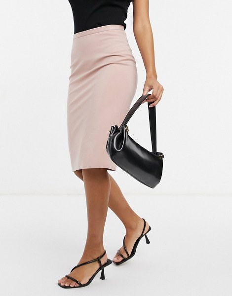 Closet London pencil midi skirt in dusty rose-pink in pink