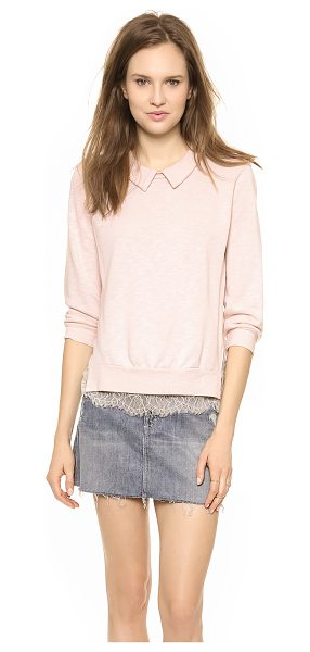CLU Lace trimmed sweatshirt in dusty rose - A french terry Clu sweatshirt balances a slouchy...