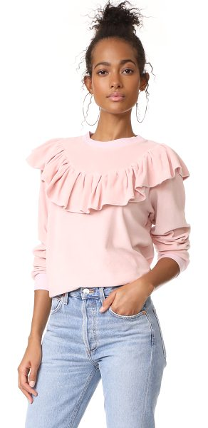 CLU too ruffle trimmed sweatshirt - A crew-neck Clu sweatshirt in soft terry cloth finished...