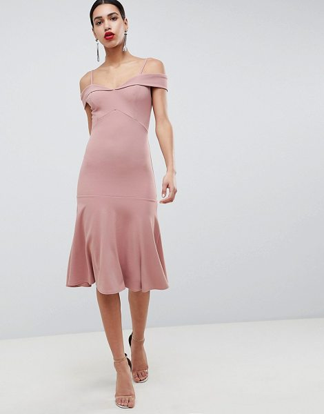 Club L bardot fit & flare dress in pink - Dress by Club L, Bardot neck, Brigitte knows best, Cami...