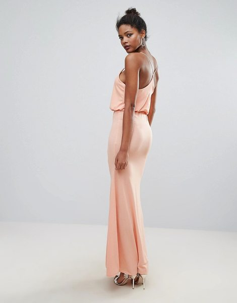 "Club L Cross Back Maxi Dress in pink - """"Maxi dress by Club L, Knitted fabric, Scoop neck,..."