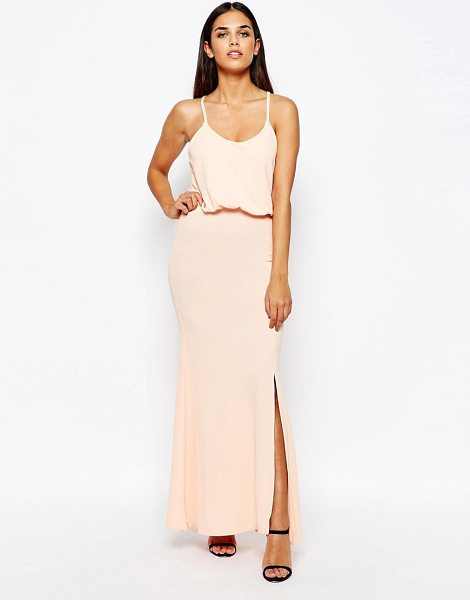 Club L Maxi Dress With Cross Back in pink - Maxi dress by Club L, Soft-touch jersey, Scoop neckline,...