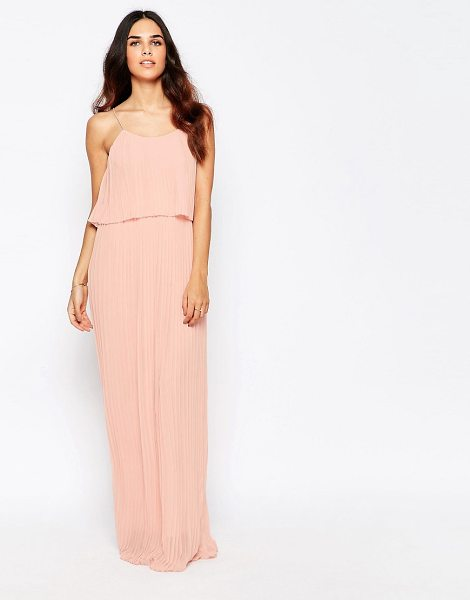 Club L Pleated Overlay Maxi Dress in pink - Maxi dress by Club L, Lined chiffon, All-over pleats,...