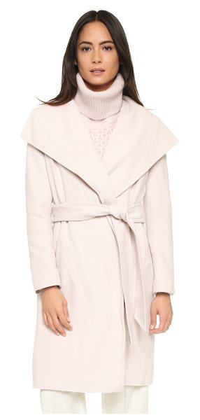 Club Monaco Abarane coat in pale pink - A sophisticated Club Monaco overcoat, rendered in a soft...