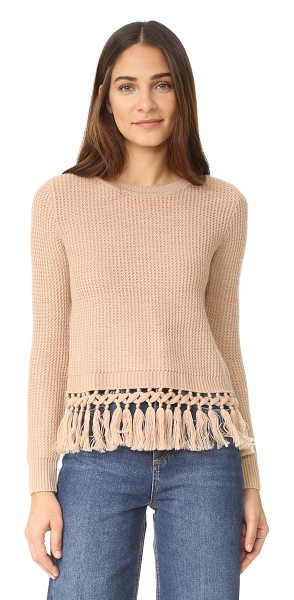 Club Monaco beberly sweater in iced latte - Raised zigzag ribs lend a textural touch to this easy...