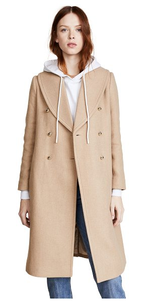 Club Monaco cahndisse coat in camel - A chic, classic Club Monaco coat with polished gold-tone...