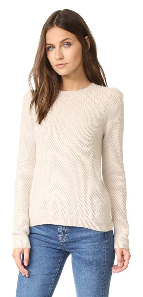 Club Monaco torela cashmere sweater in light oatmeal - Honeycomb stitches lend rich texture to this luxurious...