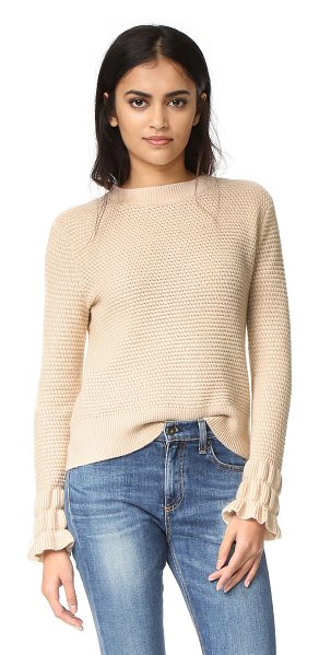 Club Monaco Club Monaco Darja Sleeve Interest Sweater in pink - This tactile Club Monaco sweater is detailed with ribbed...