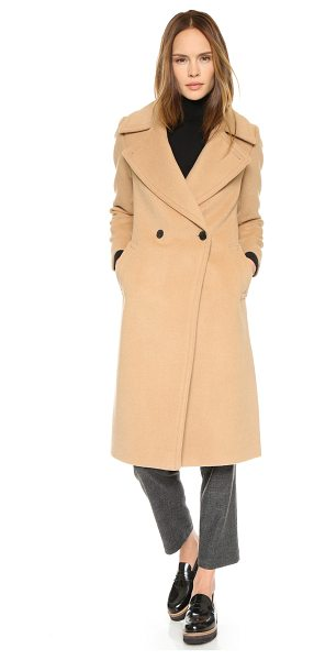 Club Monaco Daylina coat in camel - A contoured Club Monaco double breasted overcoat with...