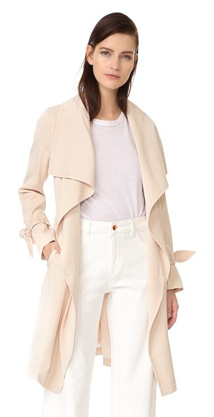 CLUB MONACO ellayne trench - Oversized lapels drape along the open placket on this...