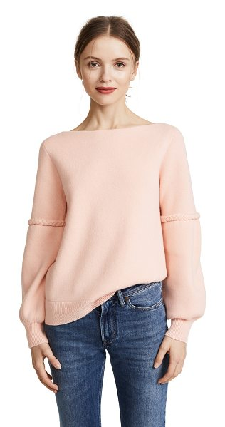 Club Monaco gustano cashmere sweater in coral - This cozy cashmere Club Monaco sweater is detailed with...